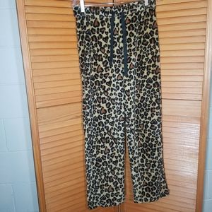 Leopard Print Fleece Sleep Pants